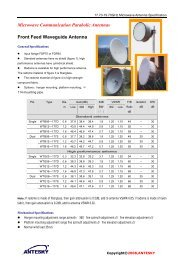 17.70-19.70GHZ Microwave Antenna - Earth station antenna