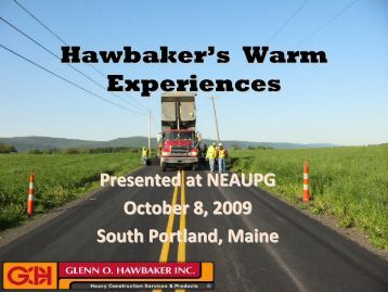 Hawbaker's Warm Experiences - neaupg