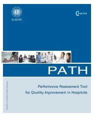 BROCHURE providing overview of the WHO PATH tool