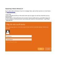Opret ny mailkonto - ComX