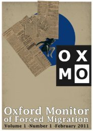 OxMo Volume 1 - Oxford Monitor of Forced Migration
