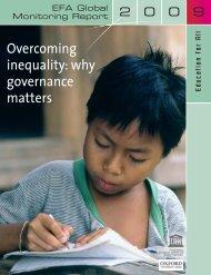 EFA global monitoring report, 2009 - ERI SEE