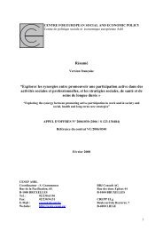 centre for european social and economic policy - Cesep.eu