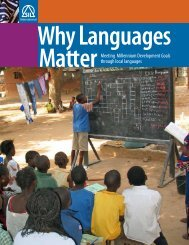 Why Languages Matter: Meeting Millennium ... - SIL International