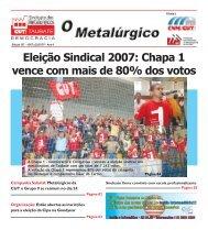 Eleição Sindical 2007: Chapa 1 vence com mais de 80 ... - CNM/CUT