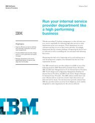 Maximo for Service Providers brochure - Total Resource Management