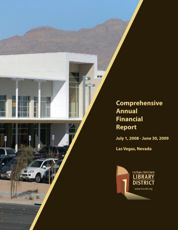 Comprehensive Annual Financial Report - Las Vegas-Clark County ...