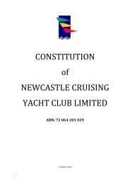 a copy of NCYC's Constitution - Newcastle Cruising Yacht Club