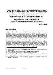 Informe del Plan Estratégico - CBI - UAM