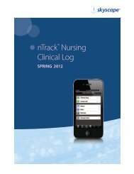 nTrack™ Nursing Clinical Log - Skyscape