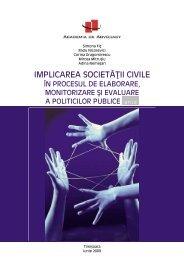 IMPLICAREA SOCIETĂŢII CIVILE - ro - Academia de Advocacy