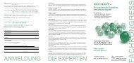 ANMELDUNG DIE EXPERTEN - Finanz-Marketing Verband Österreich