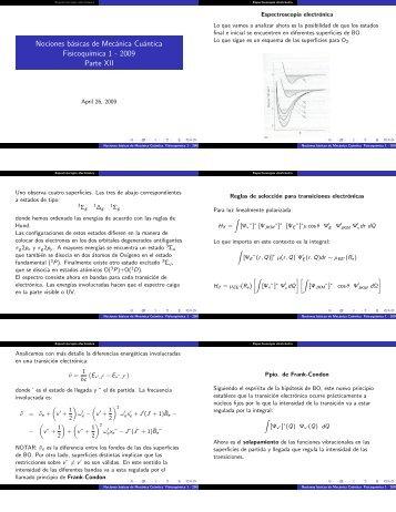 Nociones básicas de Mecánica Cuántica Fisicoqu´ımica 1 2009 ...