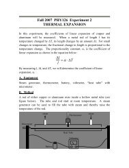 Thermal expansion - Ultracold Atomic Physics