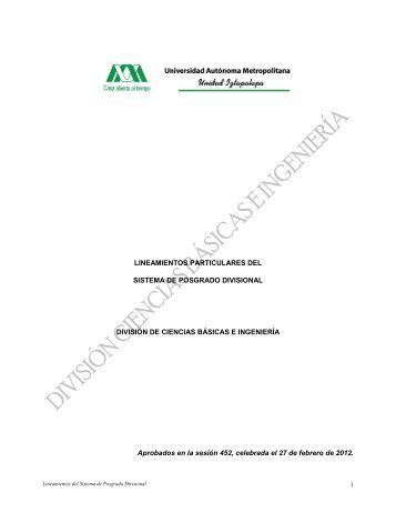 Temario para el examen de ingreso al posgrado en qumica cbi 25 lineamientos particulares del sistema de posgrados cbi uam urtaz Image collections