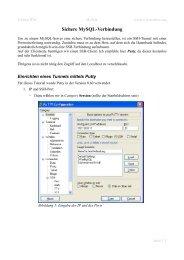 Sichere MySQL-Verbindung - wissen4free.org