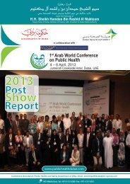 2013 Show - World Federation of Public Health Associations