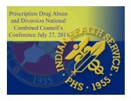 Prescription Drug Abuse and Diversion National ... - The Hill Group