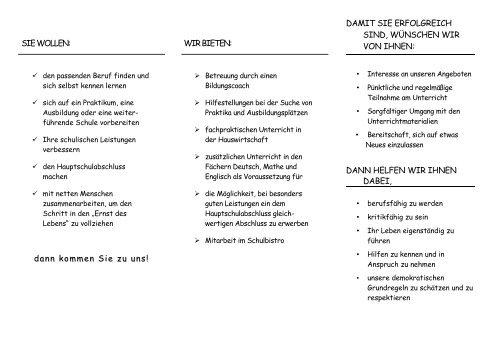 Handlungskonzept Schule & Arbeitswelt - Elly-Heuss-Knapp-Schule
