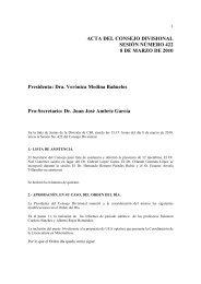 Acta 422, 8 de Marzo 2010 - CBI - UAM