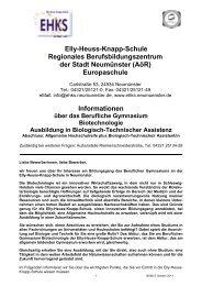 Elly-Heuss-Knapp-Schule Regionales Berufsbildungszentrum der ...