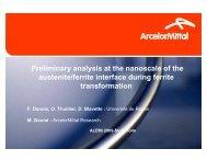 Preliminary analysis at the nanoscale of the austenite ... - alemi.ca