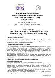Berufsfachschule Gesundheit & Ernährung - Elly-Heuss-Knapp-Schule