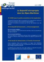 Le dispositif microprojets dans les Alpes-Maritimes - CRESS PACA