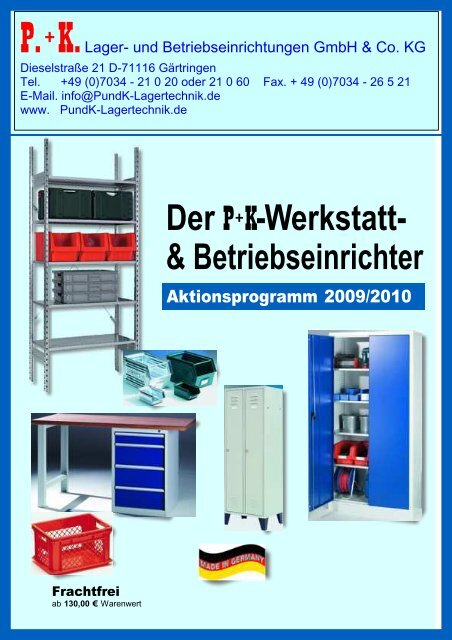 Werkstatt- & Betriebseinrichter - P. + K. Lager