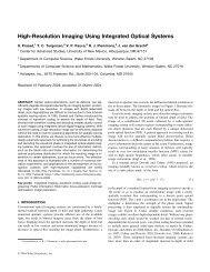 16. High-Resolution Imaging Using Integrated Optical Systems.