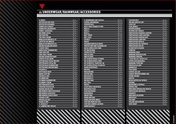 11 UNDERWEAR/RAINWEAR/ACCESSORIES - Maleducati.hu
