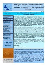 2009-07-Refugee Resettlement newsletter - CCME