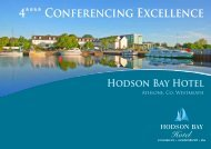 to Download our Conference Brochure. - Hodson Bay Hotel