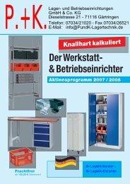 Der Werkstatt- & Betriebseinrichter - P. + K. Lager