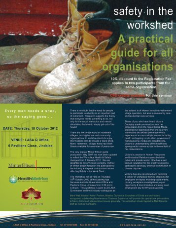Safety in the Work Shed - Leading Age Services Australia ...