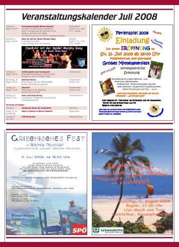 Veranstaltungskalender Juli 2008 - RiSKommunal