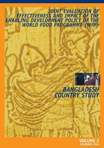 bangladesh country study - WFP Remote Access Secure Services