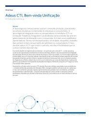 Adeus CTI, Bem-vinda Unificação - Aspect.com