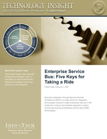 Enterprise Service Bus: Five Keys for Taking a Ride - Info-Tech ...