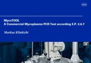 MycoTOOL A Commercial Mycoplasma PCR Test according E.P. 2.6.7