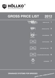 Gross price list 2012