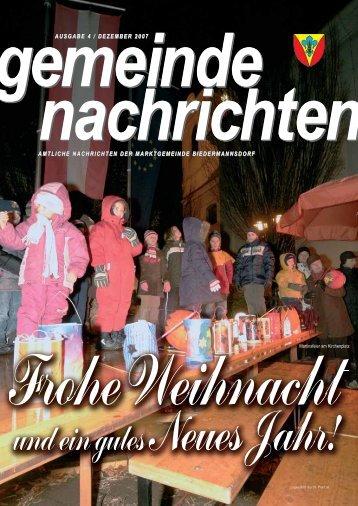 Gemeindenachrichten 2007-4 - Biedermannsdorf