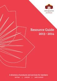 Resource Guide 2013 - 2014 - Leading Age Services Australia ...