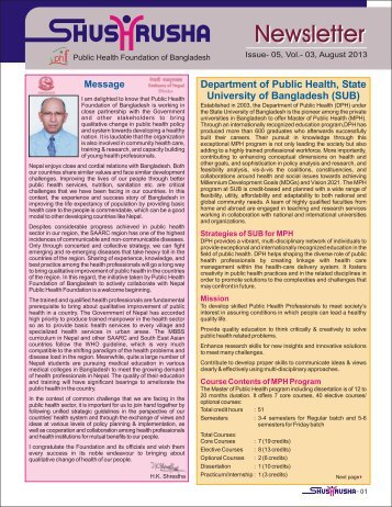 Read the Newsletter - World Federation of Public Health Associations