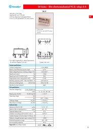 34 Series - Slim electromechanical P.C.B. relays 6 A