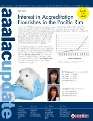 Interest in Accreditation Flourishes in the Pacific Rim - Aaalac