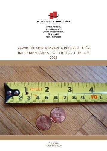 raport de monitorizare a progresului în implementarea politicilor ...
