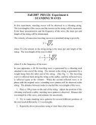 Standing waves - Ultracold Atomic Physics