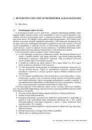 1. BEVEZETÉS CAD/CAM/CAE RENDSZEREK ALKALMAZÁSÁBA