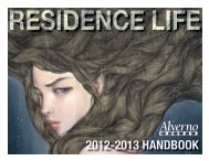 2012-2013 HANDBOOK - Alverno College